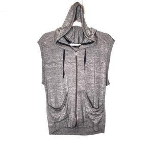 Athleta sleeveless hooded zip up jacket